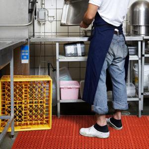 562 Sanitop RED, Anti-slip mat, werkvloermatten, keukenmat, horeca mat, anti-slip horeca