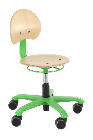 Score Pico Beuken, rolkruk, ergonomische rolkruk