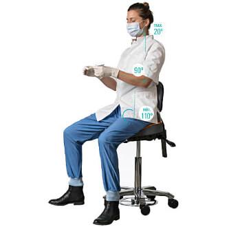 ergonomische zadelkruk tandarts en mondhygiënist