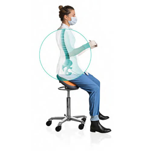ergonomische zadelkruk tandarts