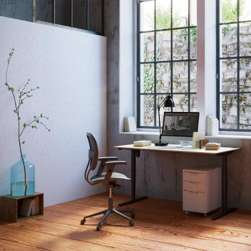 zit-sta bureau, thuiswerkplek